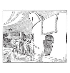 trojan horse vintage vector image