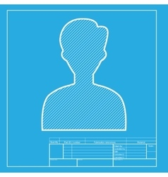 User avatar anonymous sign white vector