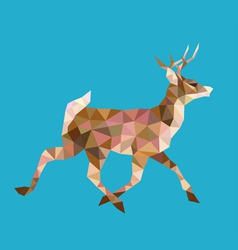 Walking deer low polygon vector image vector image