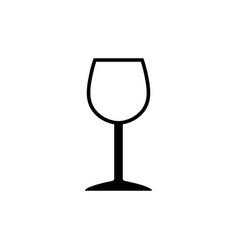 wineglass symbol icon vector image