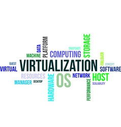 word cloud virtualization vector image vector image