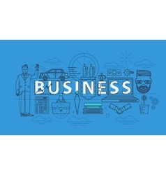 Business items as thin line icons for finance team vector image