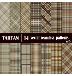 Set Tartan Seamless Pattern vector image
