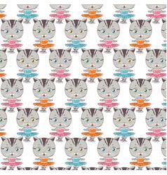 Cat ballerina pattern dancing cat vector