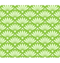 Abstract green seamless pattern vector