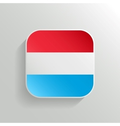 Button - luxembourg flag icon vector