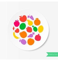 Fruit plate healthy food vector
