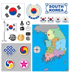 South Korea map vector image