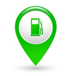 green gas station pointer vector image