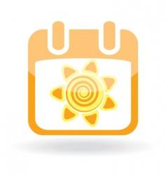 sunshine symbol vector image