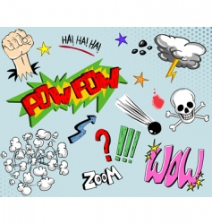 comic book elements  vector image