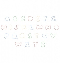 Sewing alphabet vector