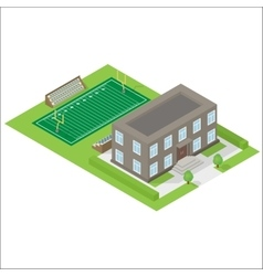 School isometric icon vector