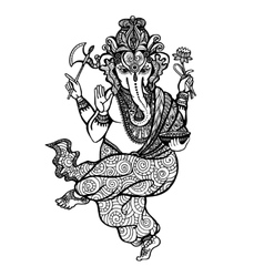 Dancing ganesha icon vector