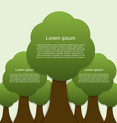 Infographic of ecology concept design with tree vector