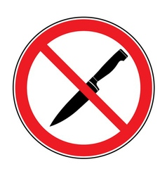 No knife or no weapon sign vector