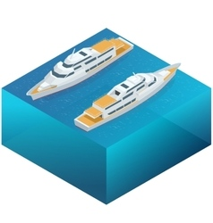 Yacht water carriage and maritime transport ship vector