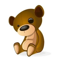 Basic brown teddy vector image vector image