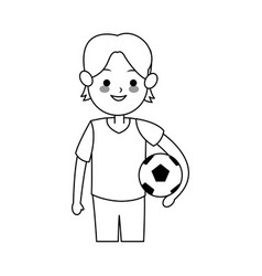 boy cute cartoon icon image vector image vector image