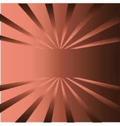 Brown rays background with place for your text vector image vector image