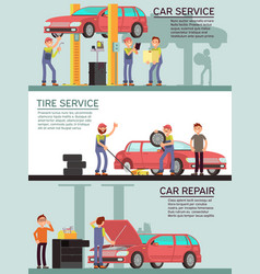 Car services and auto garag marketing vector