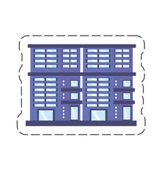 cartoon building residential town vector image
