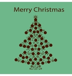 Christmas tree ball card background vector