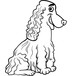 Cocker spaniel cartoon for coloring book vector