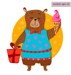 colored bear vector image