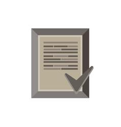 document check icon flat checklist list paper vector image