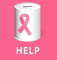 Donate for breast cancer research and prevention vector
