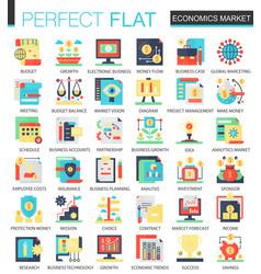 Economics market complex flat icon concept vector