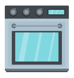 Electric oven icon cartoon style vector