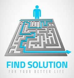 Find solution vector image vector image