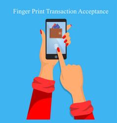 finger print identification or verification vector image