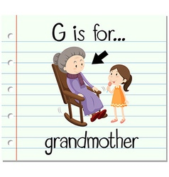 Flashcard letter g grandmother vector