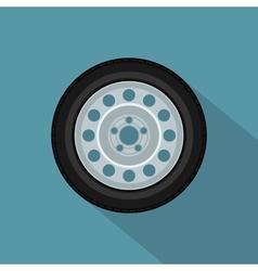 flat wheel 2 vector image vector image