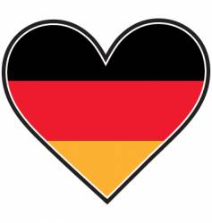 german heart flag vector image vector image