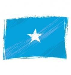 grunge Somalia flag vector image vector image