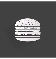 Hambrger web icon vector image
