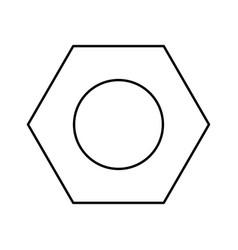 Hex nut black color icon vector