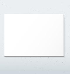 Horizontal white poster mockup vector