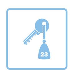 Hotel room key icon vector image vector image