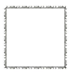 Isolated boho frame design vector