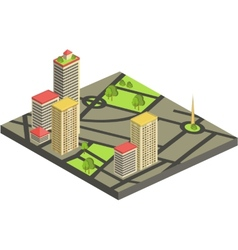 Isometric city map concept vector image