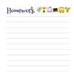 Lined homework sheet vector