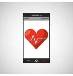 Mobile app health cardiology design vector