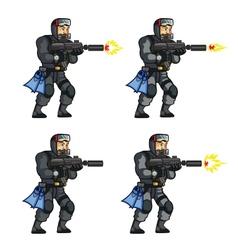 Navy seal shooting sprite vector