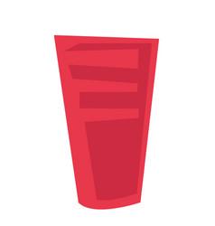 red plastic glass cartoon vector image
