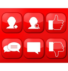 red social Network app icon set Eps10 vector image vector image
